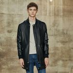 Long MA-1 jacket (Black)