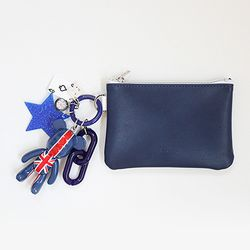 유니온 잭 card & coin wallet (navy)