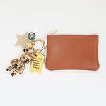 골드 피스 card & coin wallet (brown)