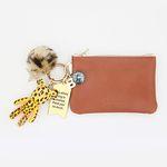 레오퍼드 card & coin wallet (brown)