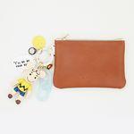 찰리브라운 card & coin wallet (brown)