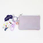기찻길 card & coin wallet (lavender)