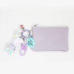 화이트 스타 card & coin wallet (lavender)