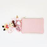 페코짱 card & coin wallet (baby pink)