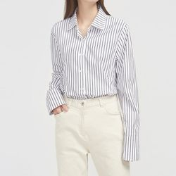 wearing wide cuffs stripe shirts