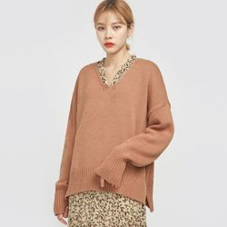 mellow weave v-neck knit