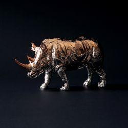 코뿔소 오브제 (로즈골드)
