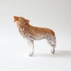 늑대 오브제 (로즈골드)