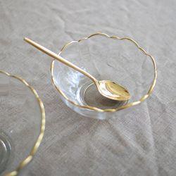 Gold edge flower bowl S
