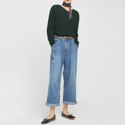 glory for denim wide pants
