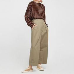 comfortable roll up wide pants