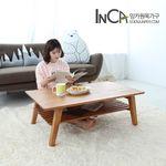 모던 소나무 원목 선반형 접이식 테이블 1000