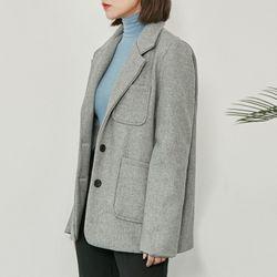 [로코식스] high quality modern wool jacket자켓