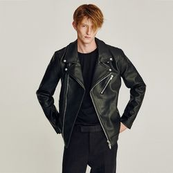REALISTIC LEATHER RIDER JACKET