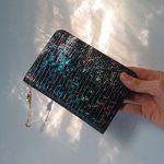 우주 [홀로그램] 가죽 여권 케이스