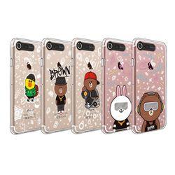 라인프렌즈 iPhone8 7 Beat Brown 라이팅 케이스 2