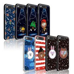 라인프렌즈 iPhone7 Plus B-Brown AS 라이팅 케이스