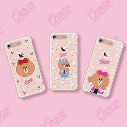 라인프렌즈 iPhone8 7Plus NEW CHOCO 라이팅 케이스