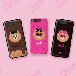 라인프렌즈 iPhone8 7Plus AS NEW 초코 라이팅 케이스