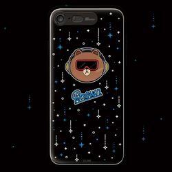 라인프렌즈 iPhone8 7Plus 메탈 뱃지 라이팅 케이스