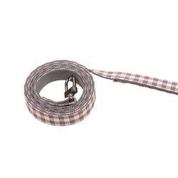 체크 셔츠 하네스 리드줄 핑크(L016)
