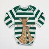 Green Stripe Giraffe Bodysuit