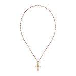 Dreamer Big Cross Gemstone Necklace