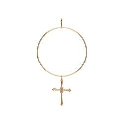 Dreamer Big Cross Hoop Single Earring A