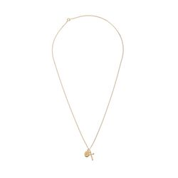 Dreamer Cross and Oval Necklace