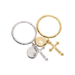 Dreamer Cross and Oval Ring