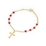 Dreamer Cross Coral Bracelet