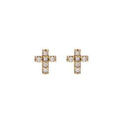 Dreamer Mini Cross Earrings