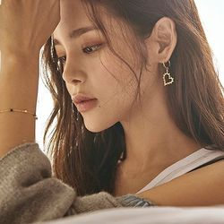 [박시연 착용] Lover heart earrings