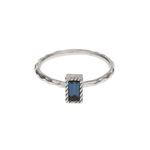 Lover square Crystal SV Ring