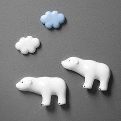 구름 곰 마그넷 세트 냉장고자석메모