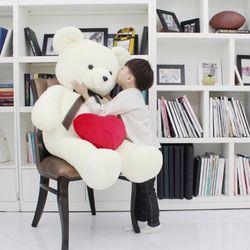 포근포근 초대형150cm자이언트 사랑해 큰곰인형+하트