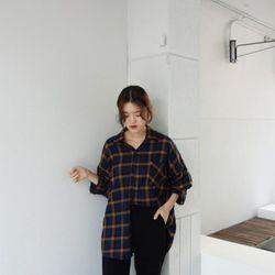 박시 체크 남방 (2color)