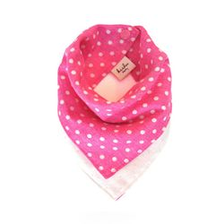 [Kishu Baby] Pink Polka Dot 양면 유아 스카프빕