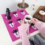 P5414 컵고양이 주방수건 겸 식탁매트(2종세트)
