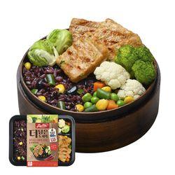 맛있닭더담은도시락 스테이크고추야채현미밥(1팩)