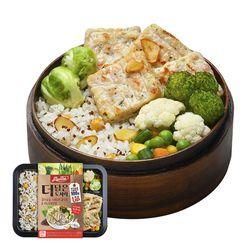 맛있닭더담은도시락 스테이크갈릭퀴노아영양밥(1팩)