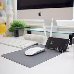 위드 마우스패드플러스 오피스정리 책상정리 USB허브