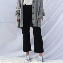 Standard-fit cotton pants