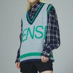 sense preppy knit vest (3 color)