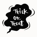 Trick or treat 할로윈 레터링 카페 스티커 [소형]
