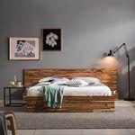브루클린 원목 평상형 침대(DH 본넬스프링 매트-퀸)