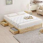 유니온 편백나무 서랍형 침대 Q 프레임