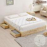 유니온 삼나무 서랍형 침대 Q 독립매트리스
