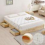 유니온 삼나무 서랍형 침대 Q 독립라텍스매트리스