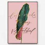 메탈 식물 포스터 액자 Beautiful today [대형]